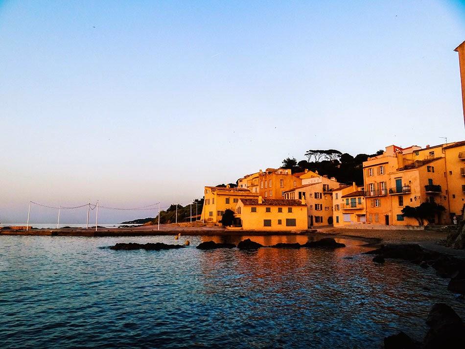 Saint Tropez coucher de soleil