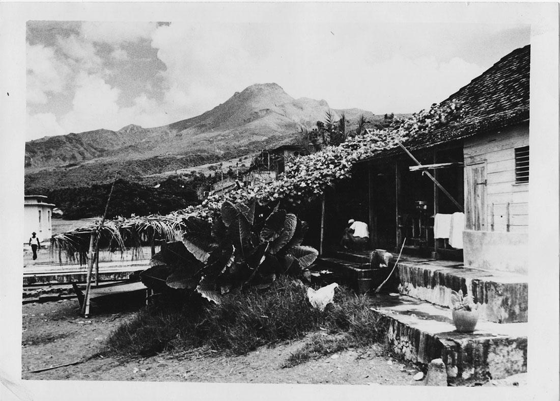 Martinique, le Mont Pelée, 1953