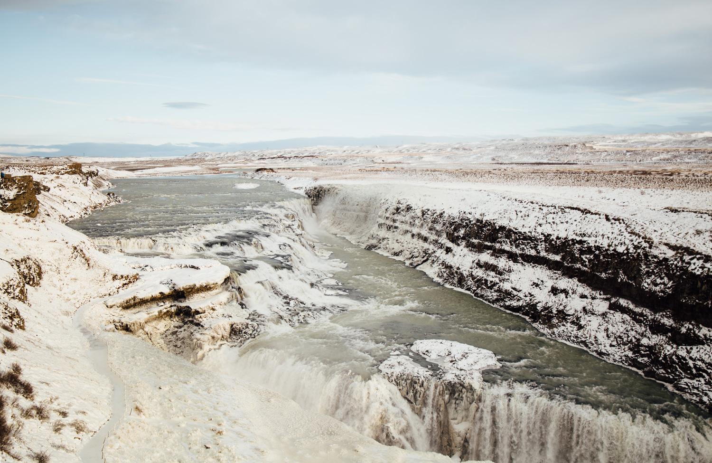 visiter l'islande, cercle d'or, Gullfoss