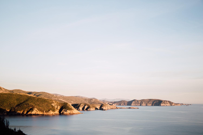 randonnée Capo Rosso, coucher de soleil