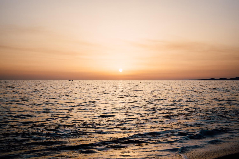 coucher de soleil Grece
