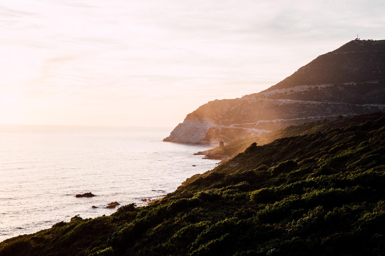 coucher de soleil Nonza, Cap Corse