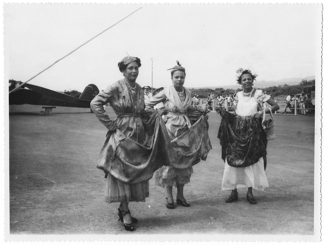 Martinique, danseuses, argentique