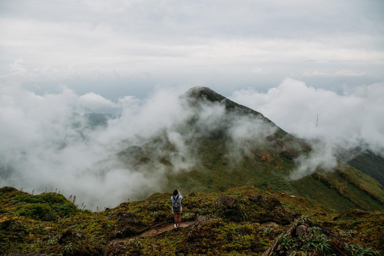 monter à la soufrière en Guadeloupe