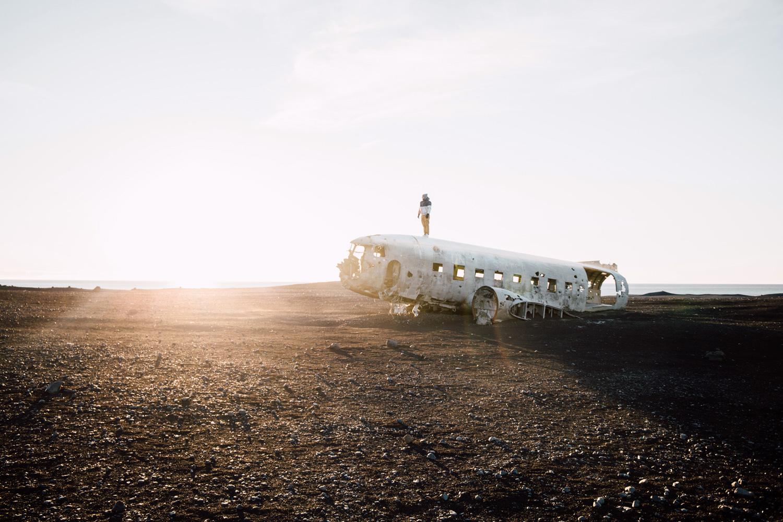 voyager en islande, epave DC3