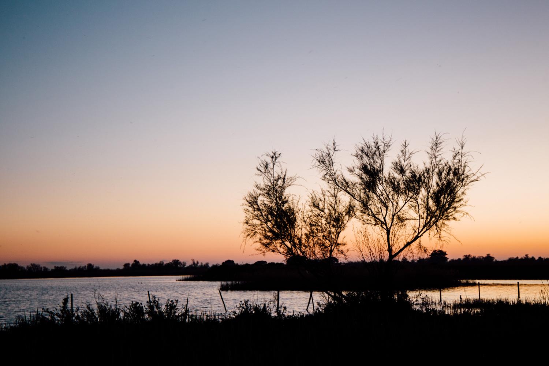 La Camargue, coucher de soleil