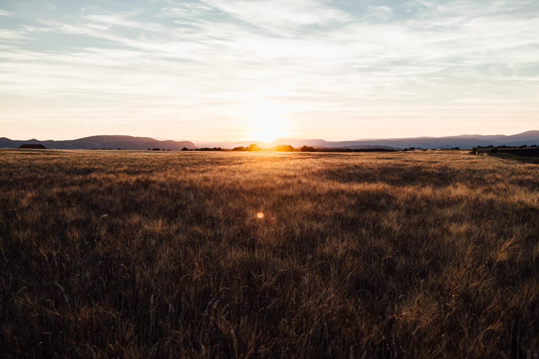 coucher de soleil plateau de Valensole