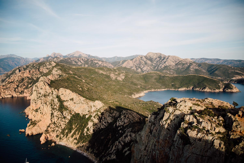 vue sur le Capo Rosso