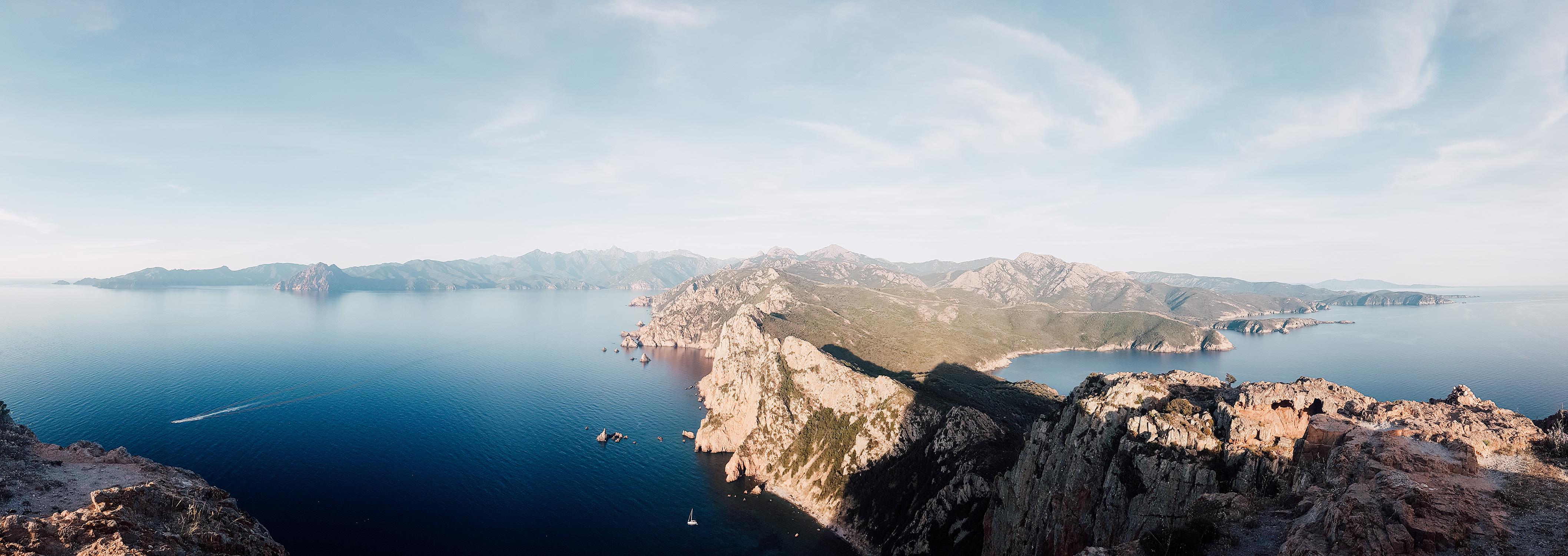 Panorama sur le Capo Rosso