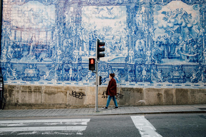visiter Porto, façade azueljos