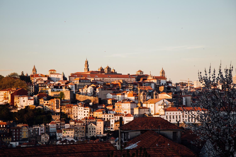 coucher de soleil Porto, caves Grahams
