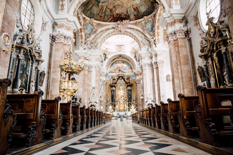 architecture baroque église Innsbruck