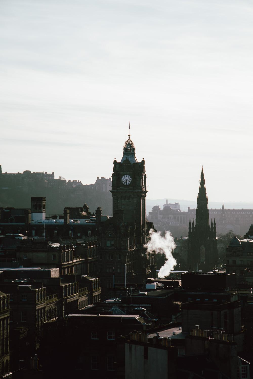 panorama sur Édimbourg - vue depuis Calton hill