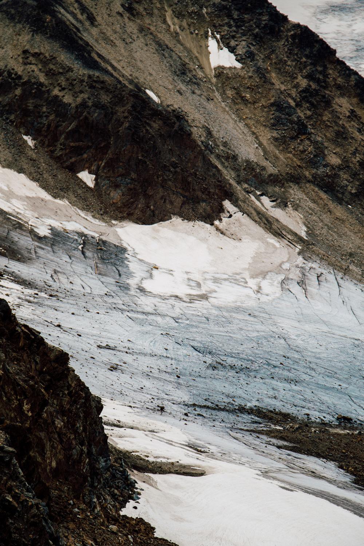 hiking Solden's glaciers