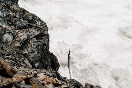crevasse dans la glace