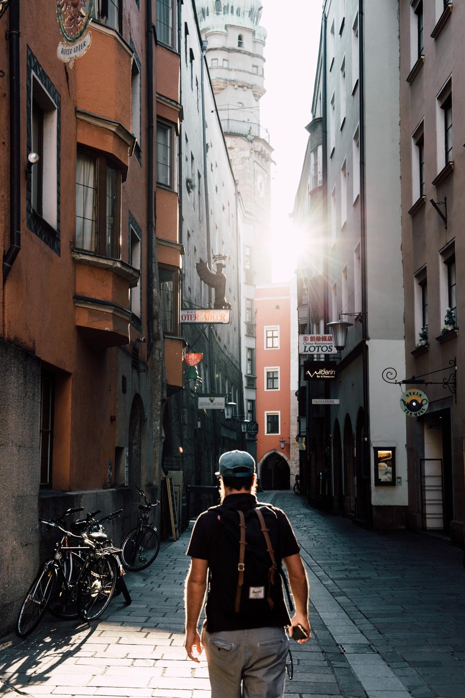 les jolies rues d'Innsbruck
