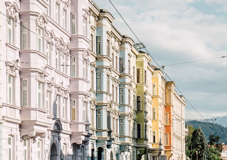colorful Claudiastraße Innsbruck