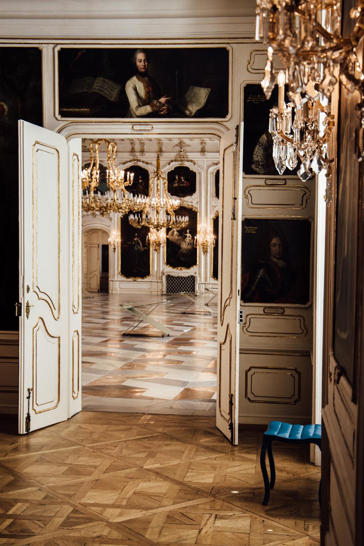 Innsbruck - palais Hofburg, détails et dorures