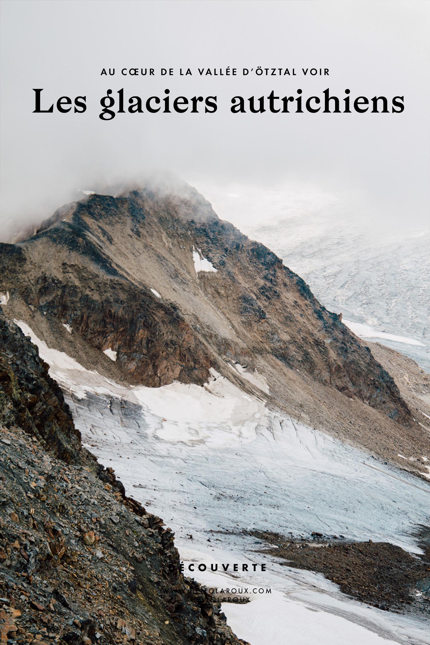 Randonnée sur les glaciers de Sölden en Autriche