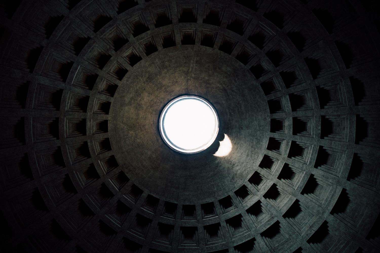 intérieur coupole Panthéon Rome
