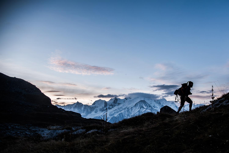 lever de soleil sur le Mont Blanc blog de voyage