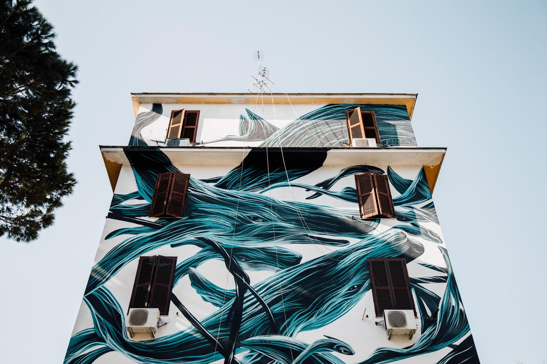 street art Rome, quartier Tor Marancia