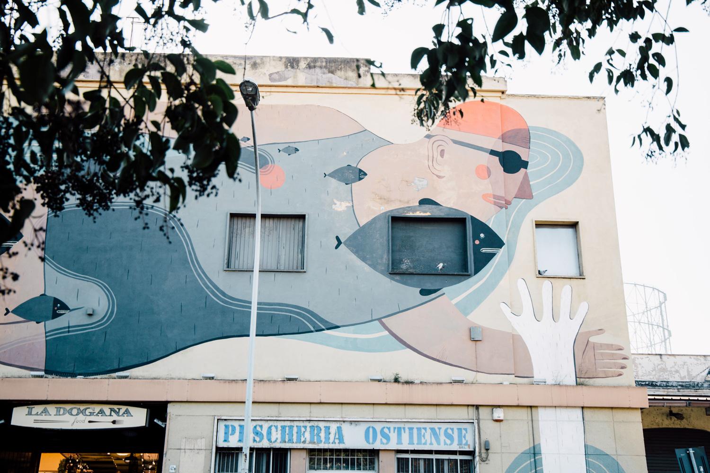 art urbain à Rome, ostiense
