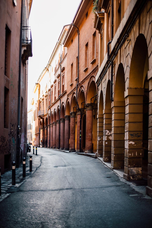 voir les arcades de Bologne