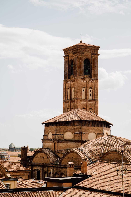 sur les toits de Bologne