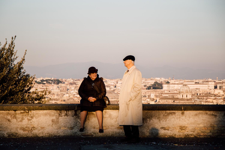 vieux couple d'amoureux