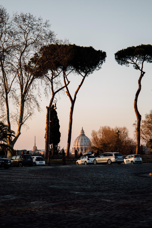 coucher de soleil Rome