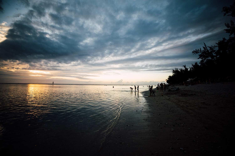 coucher de soleil, plage de l'Ermitage, La Réunion