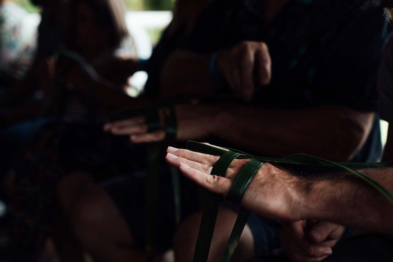 atelier tressage de coco