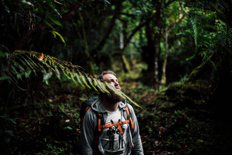 Benjamin dans la forêt réunionnaise