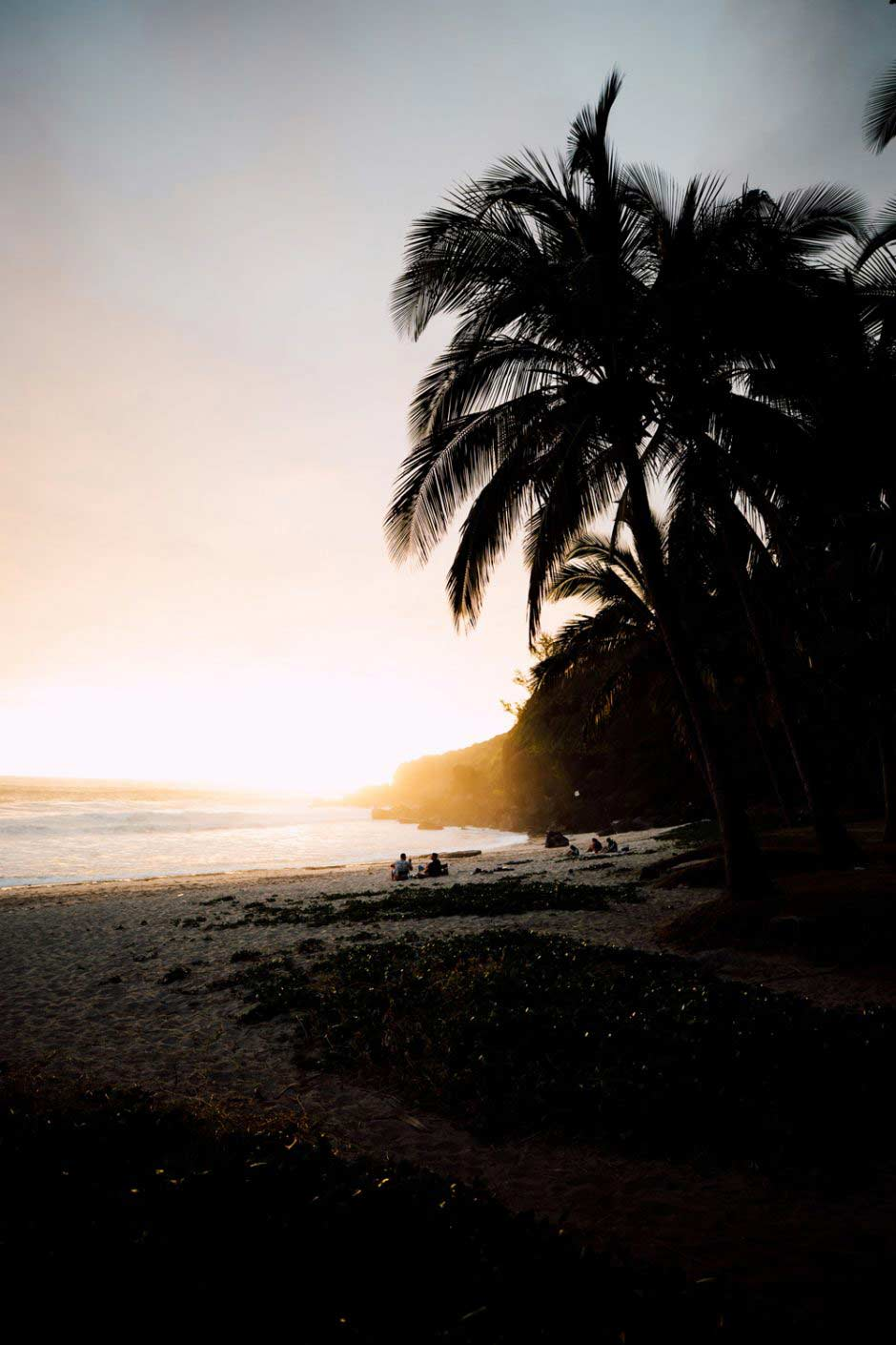 sunset Grande Anse plage La Reunion