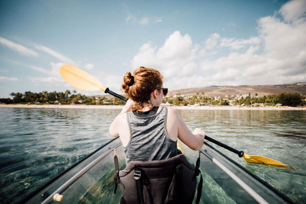 lagon et kayak transparent La Réunion