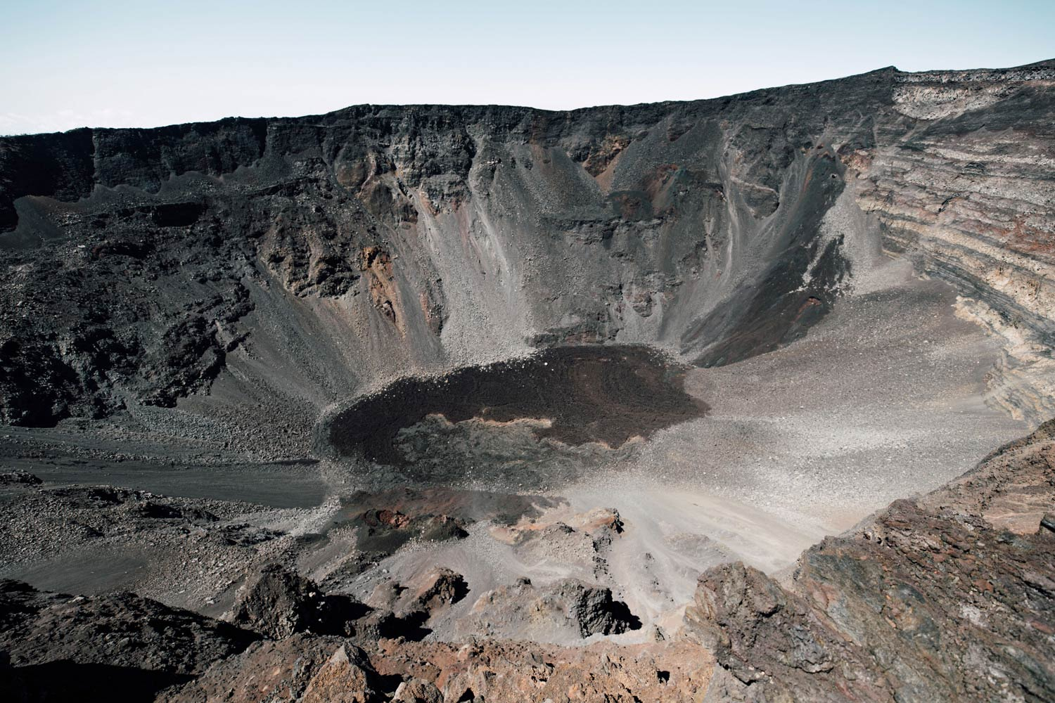 photo du cratère Piton de la fournaise