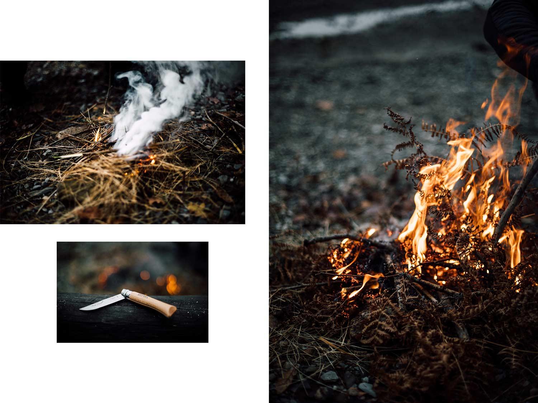 feu de camp, camping sauvage ecosse