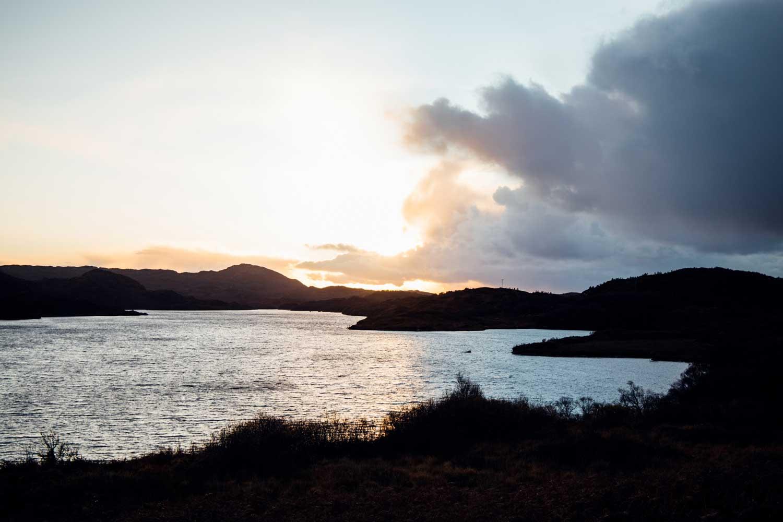 coucher de soleil Loch Assynt