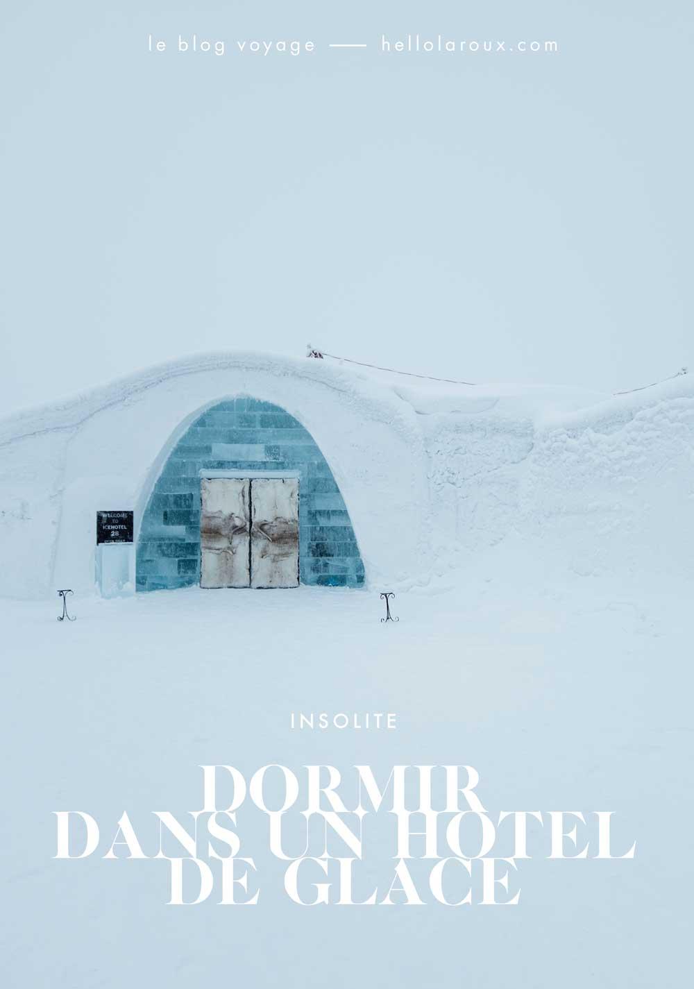 Dormir dans un hotel de glace en Suède