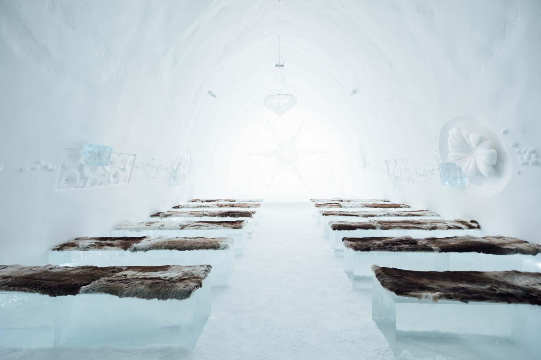 ICEHOTEL chapelle laponie