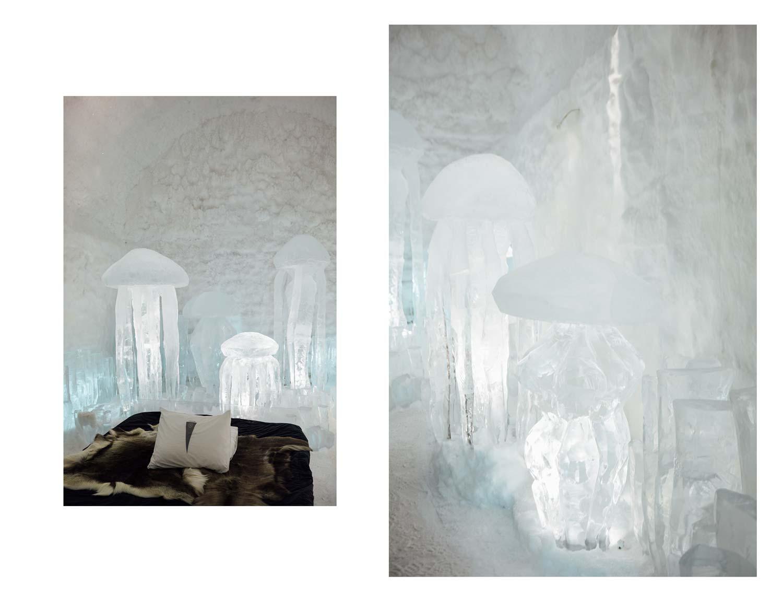hotel de glace détails chambre