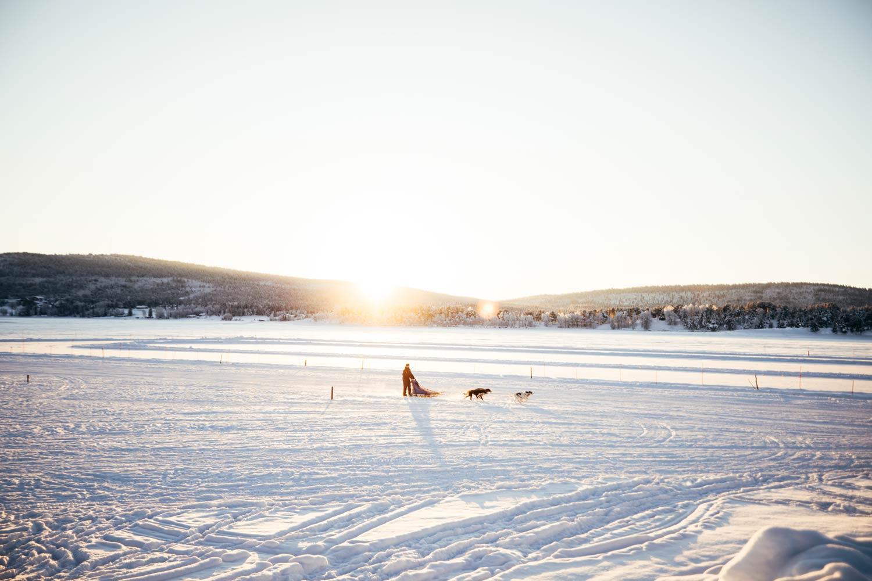 Laponie coucher de soleil
