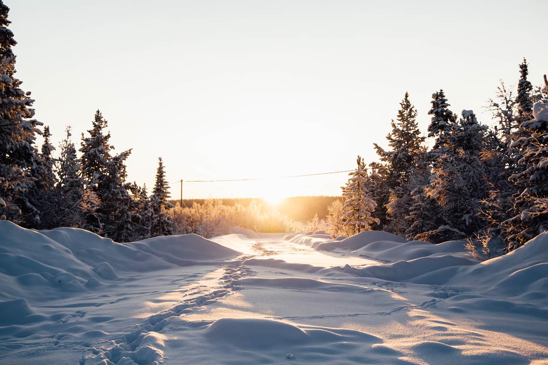 soleil d'hiver en Laponie