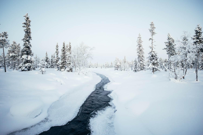 river Torne Laponie Suédoise