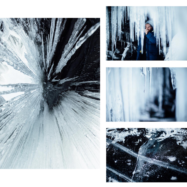 Abisko stalactite glace