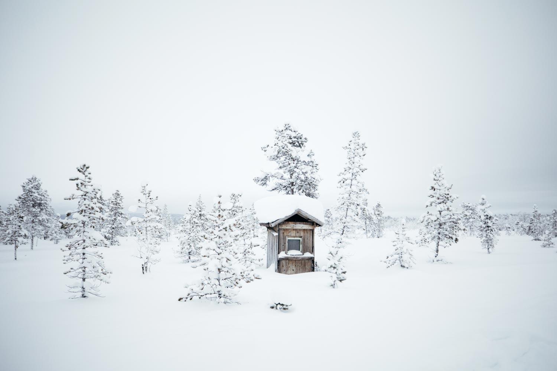 cabane en bois laponie