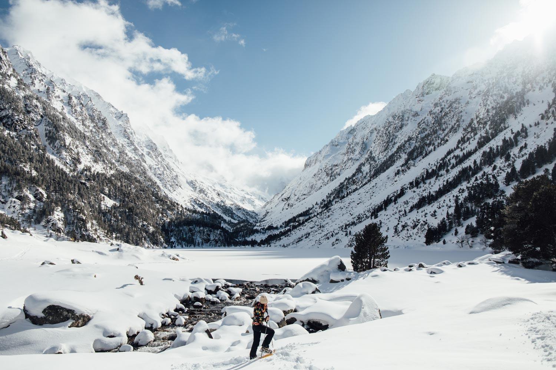 Lac de Gaube randonnée hiver