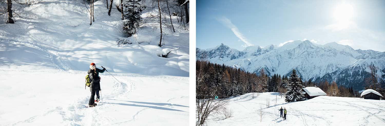faire de la raquette dans les Alpes
