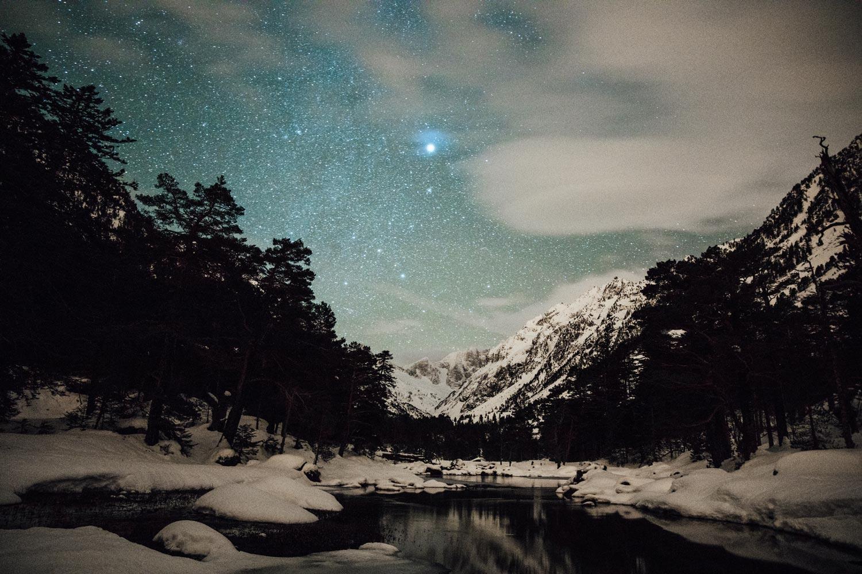 randonnée raquettes nocturne